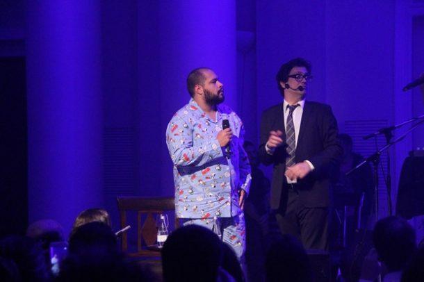 Tiago Abravanel e Lúcio Mauro Filho no evento Rio Bossa Club (Foto: Divulgação)