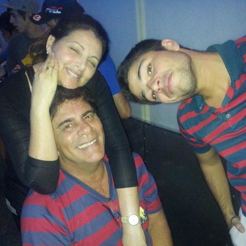 Sonia Lima, Wagner Montes e o filho do casal, o ator Diego Montez