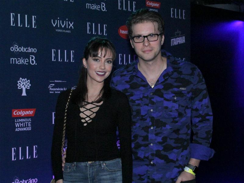 Thiago Fragoso e Mariana Vaz no elle Fashion Preview (Foto: AgNews)