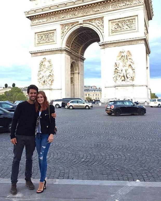 Xandinho Negrão e Marina Ruy Barbosa em Paris (Foto: Divulgação)