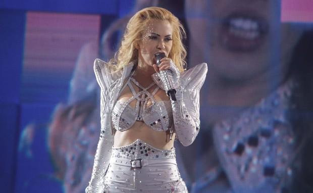 Joelma grava DVD em São Paulo (Foto: Divulgação)