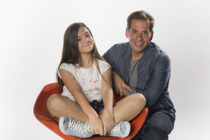 Mel Maia e Leandro Hassum (Foto: Raphael Dias/Gshow)
