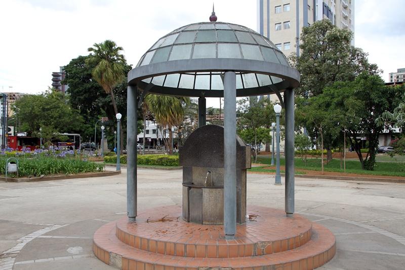 Em Poços de Caldas há fontes em diversos espaços da cidade (Foto: Poços de Caldas (MG) - Henrique Fonseca)