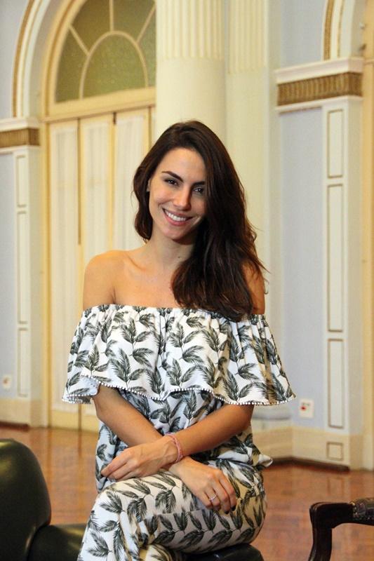 Mel em bate-papo com HT em um dos salões do Palace Hotel - Foto: Poços de Caldas (MG): Henrique Fonseca