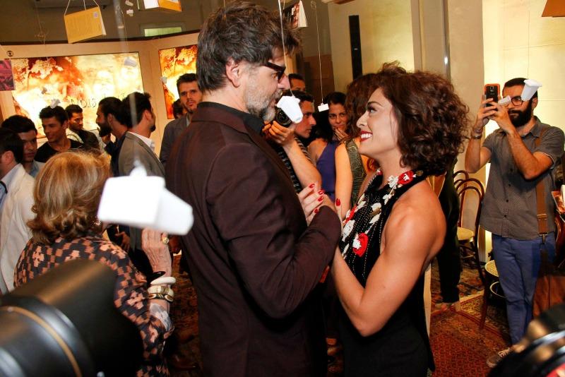 Luiz Fernando Carvalho e Juliana Paes (Foto: AgNews)
