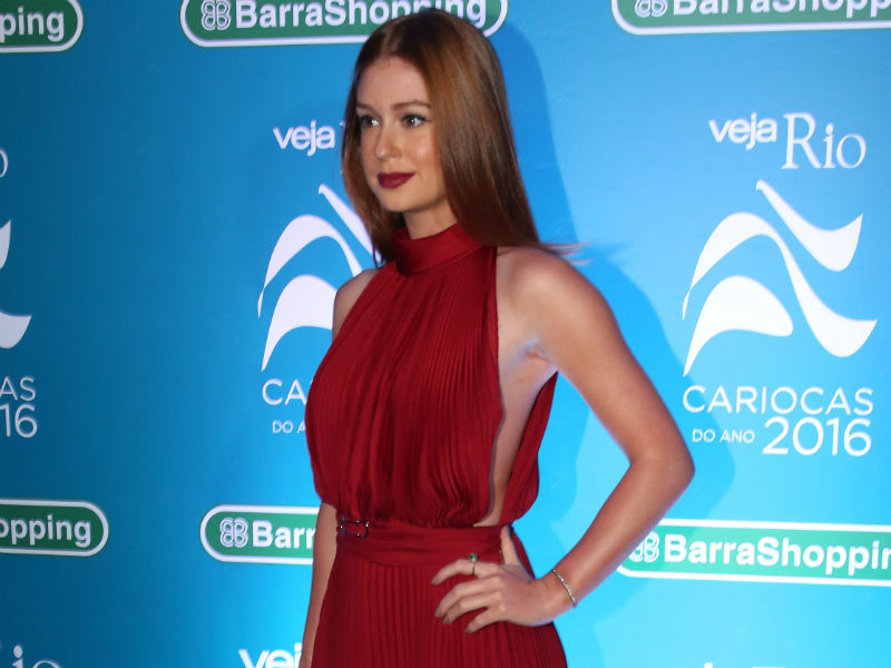 Marina Ruy Barbosa na premiação dos Cariocas do Ano (Foto: AgNews)
