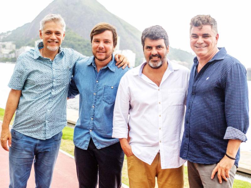 Fernando Molinari, Roger Sabbag (Via Mia), Marcelo Bastos (Farm) e Robert Guimarães (Foto: Divulgação)
