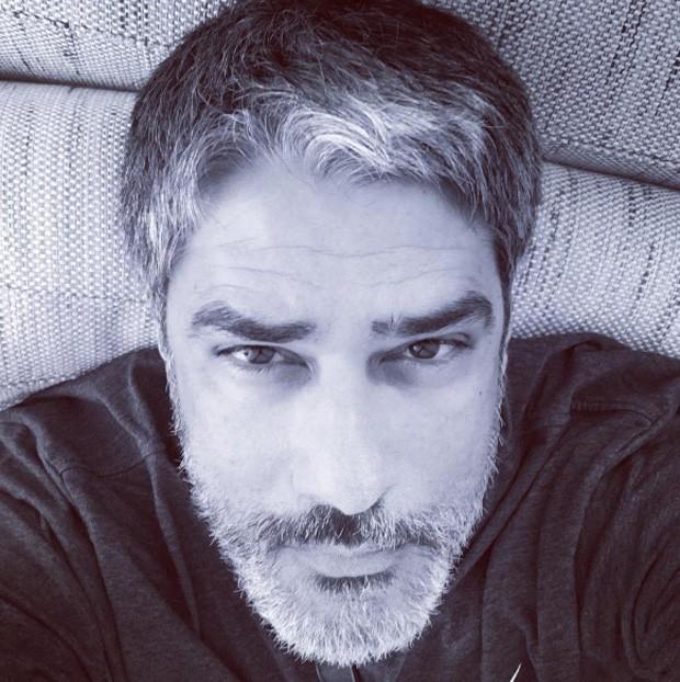 Willian Bonner postou foto do visual barbudo, mas depois apagou o registro (Foto: Reprodução/Intagram)