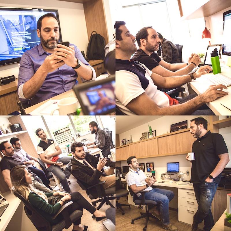 Equipe Zoor em ação nos escritórios do Rio de Janeiro e Curitiba