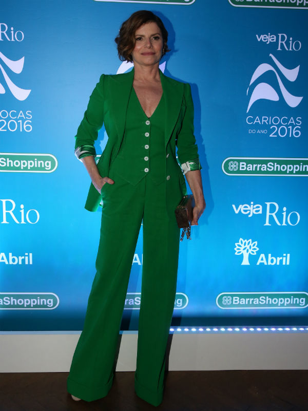 A atriz ganhou o prêmio Carioca do Ano na categoria Teatro da revista Veja Rio (Foto: Reprodução)