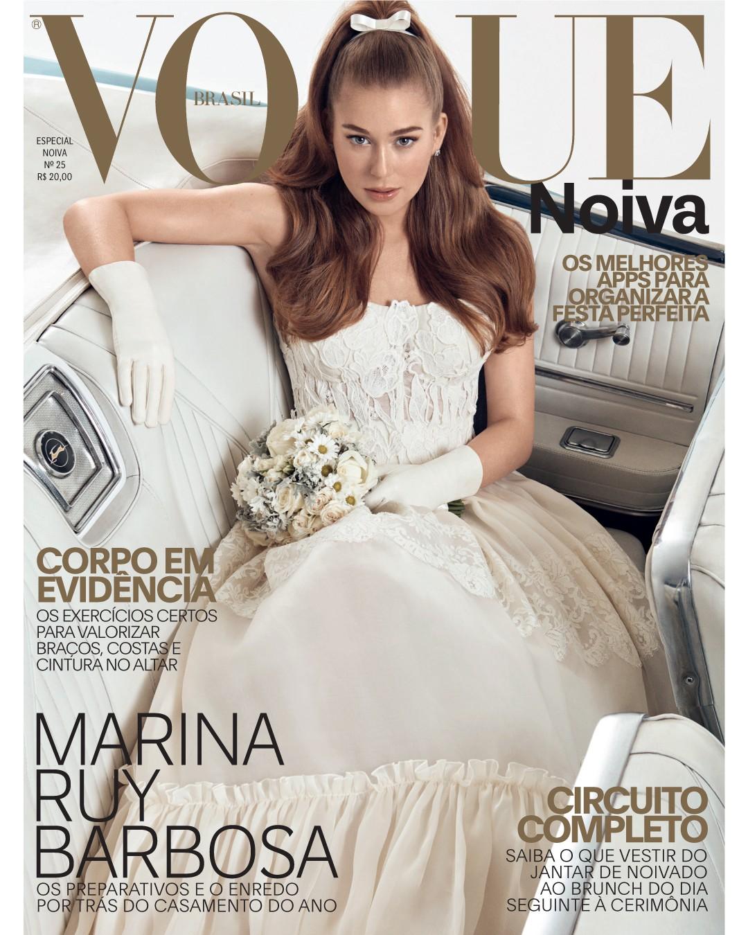 Marina Ruy Barbosa para a Vogue Noivas