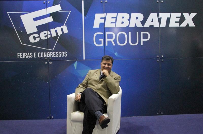 Diretor-presidente da FCEM/Febratex Group, Hélvio Roberto Pompeo Madeira, organizador das quatro feiras do setor têxtil (São Paulo - Foto: Henrique Fonseca)