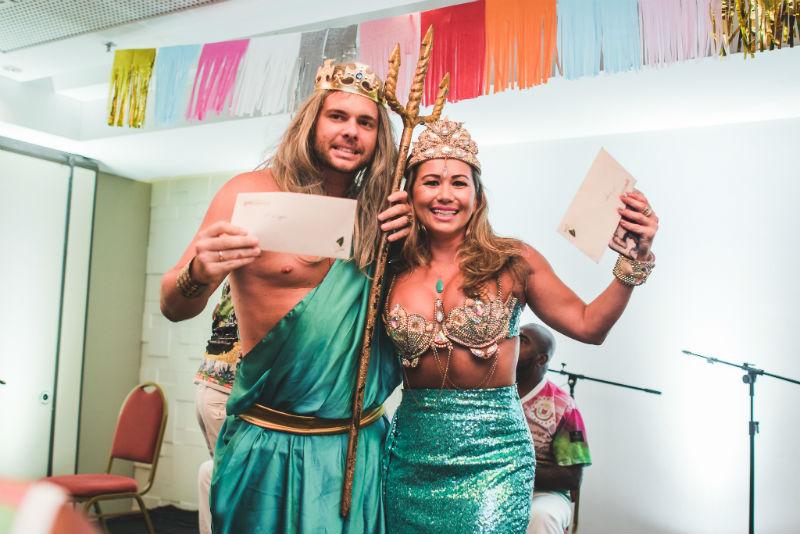 O casal de noivos Bruno Mazelli e Juliana Dantas ganhou uma hospedagem e um jantar (Foto: Alexandre C Woloch)