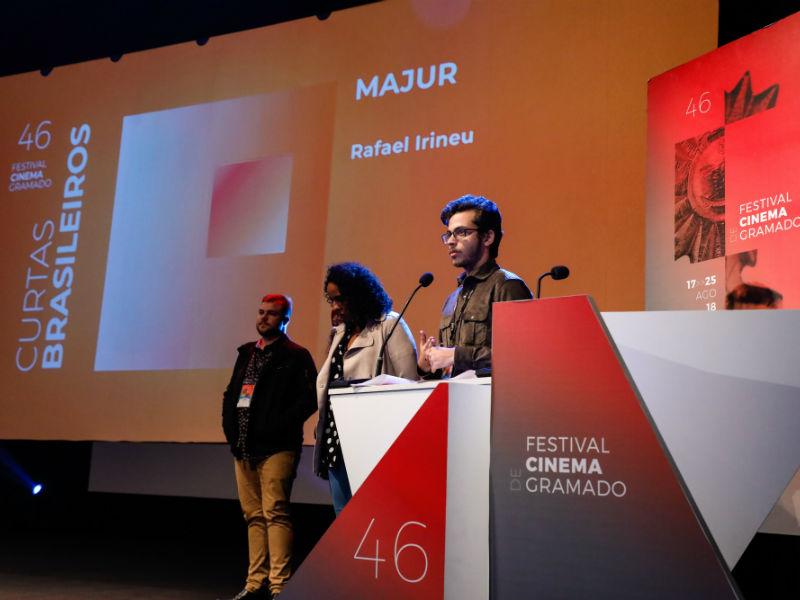 Rafael Irineu, diretor do curta Majur, fala sobre as questões da política no nosso país (Foto: Cleiton Thiele /PRESSPHOTO)