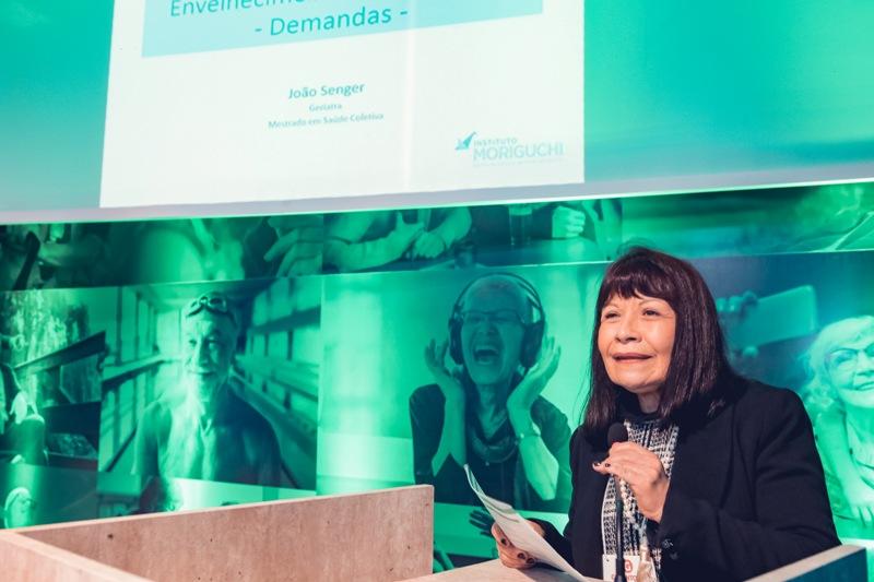 Marianela Hekman mediou algumas palestras na Geronto Fair. Ela é médica especialista em geriatria e presidente do comitê latino americano de geriatria e gerontologia