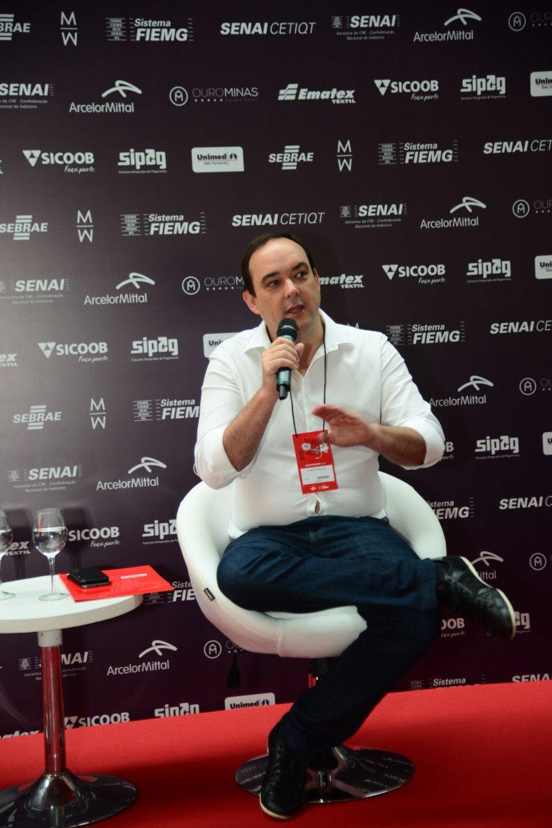 Como apontado por Flávio Roscoe, a parceria que integra Minas Trend, SESI/ SENAI, SENAI CETIQT e FIEMG é uma forma de dar continuidade ao incentivo de educação, tecnologia e inovação no Brasil (Foto: Sebastião Júnior)