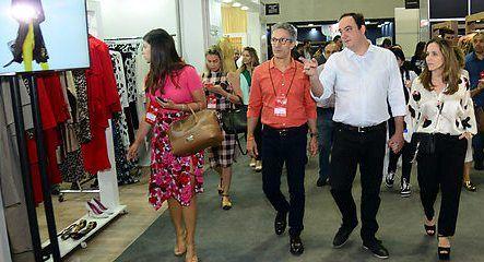 O governador eleito em Minas Gerais, Romeu Zema, prestigiou o Minas Trend e percorreu o maior Salão de Negócios da América Latina ao lado do presidente da FIEMG, Flávio Roscoe