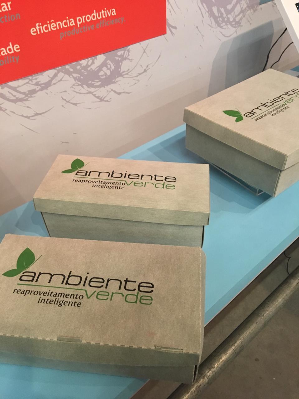 A Ambiente Verde lançou uma linha de embalagens e displays feita com as sobras da produção da indústria calçadista