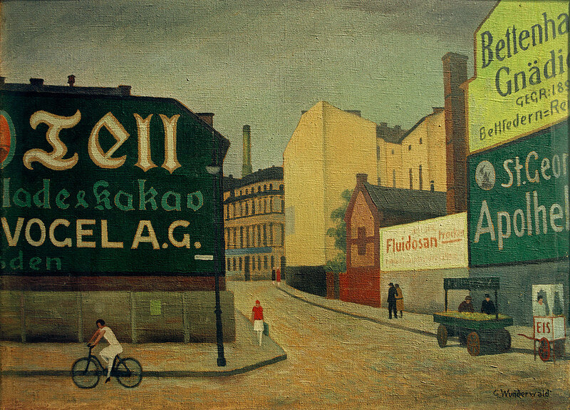 Painting of a Berlin street scene