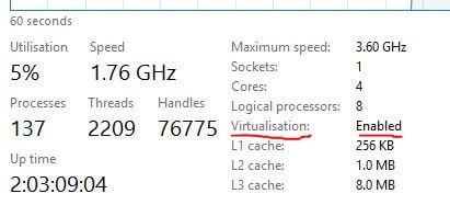 Check Hyper-V is enabled