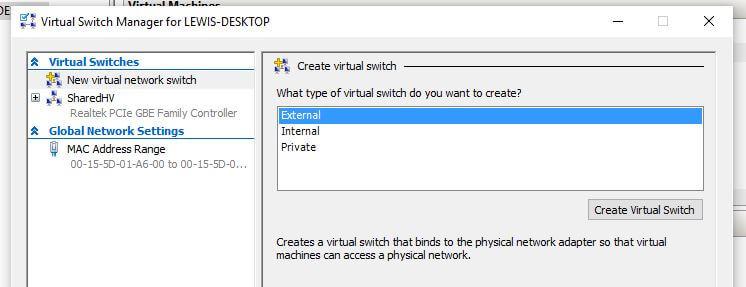 New virtual network switch
