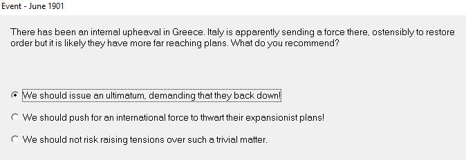 005: italy ultimatum