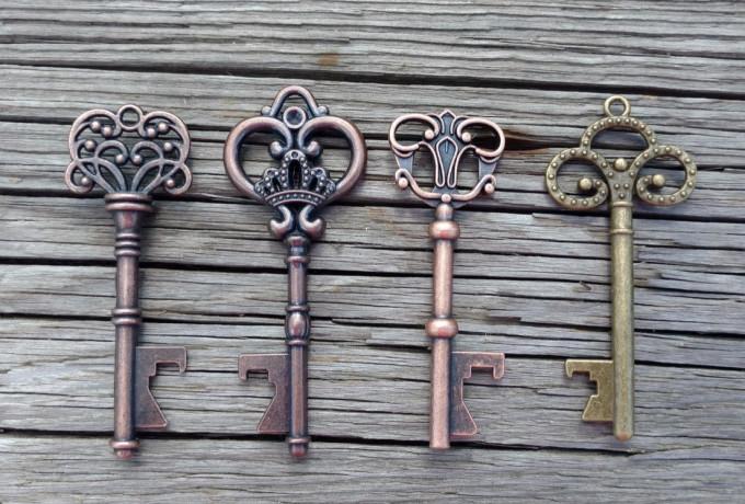 50+ Assorted Key Bottle Openers,  Wedding Favors
