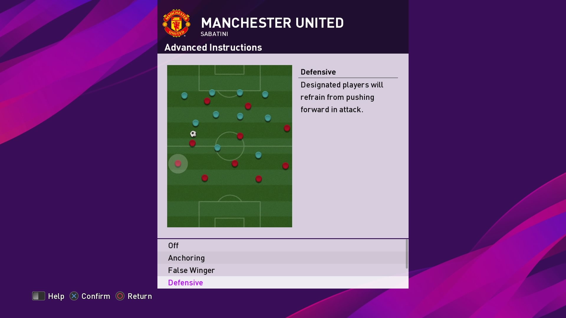 Defensive as an advanced instruction in PES