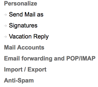 "Click on ""Email forwarding and POP/IMAP"""