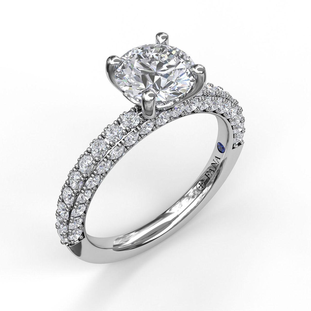 Diamond-Encrusted Engagement Ring