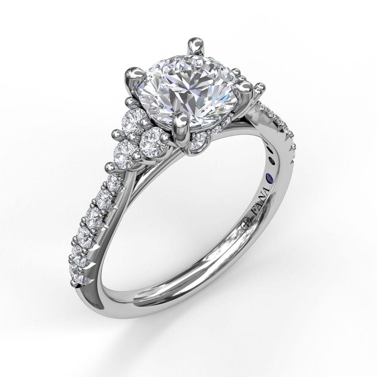 Modern Three Stone Engagement Ring