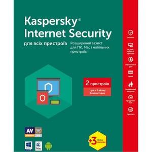 Kaspersky Internet Security Multi-Device 2017 2 Desktop 1 year + 3 mon. Base Box (KL1941OUBBS17)