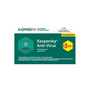 Kaspersky Anti-Virus 2017 1 Desktop 1 year + 3 mon. Renewal Card (KL1171OOABR17)