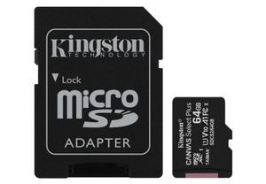 microSDXC 64GB Kingston Canvas Select Plus Class 10 UHS-I U1 V10 A1 + SD-adapter (SDCS2/64GB)