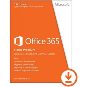 Microsoft Office 365 Home 32/64 AllLngSub PKLic 1YR Online CEE C2R NR (6GQ-00084)