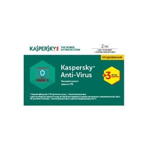 Kaspersky Anti-Virus 2017 2 Desktop 1 year + 3 mon. Renewal Card (KL1171OOBBR17)