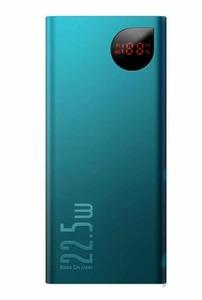 Baseus Adaman Metal Digital Display Quick Charge 22.5W 10000mAh Green (PPIMDA-B06)