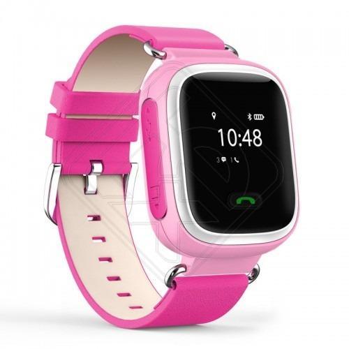 Дитячий годинник з GPS Q60 Pink - Технопростір. Купити з доставкою ... f79f308bd6d15
