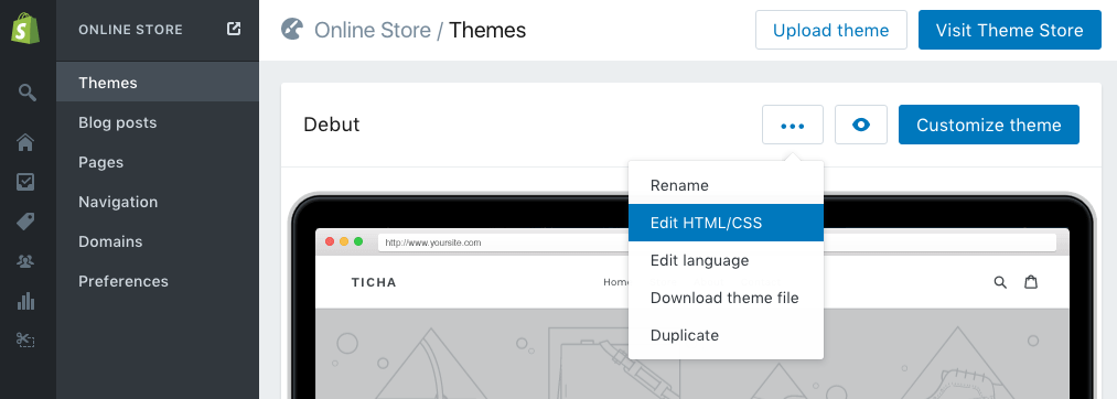 Edit HTML/CSS