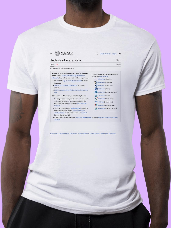 Aedesia_of_Alexandria Wikipedia Shirt