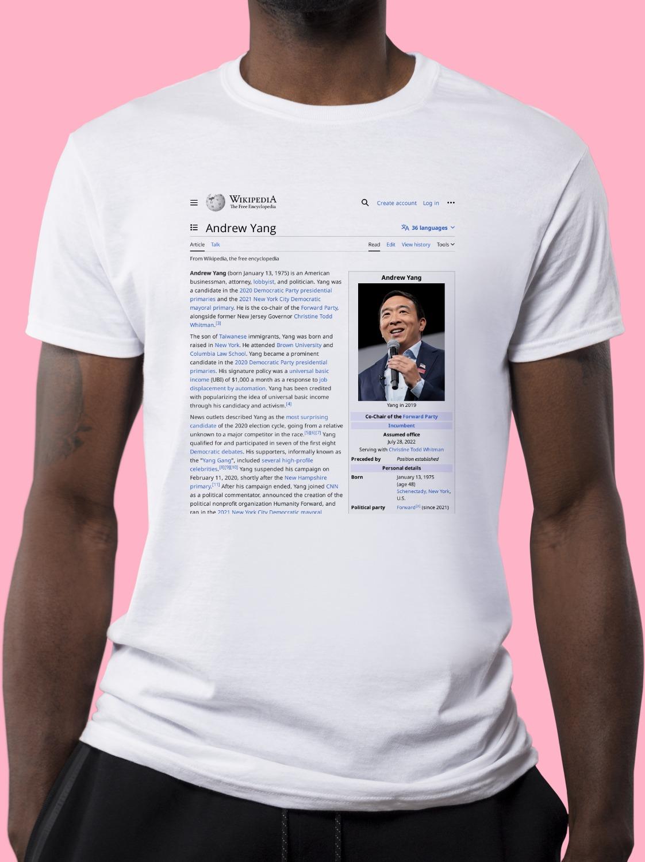 Andrew_Yang Wikipedia Shirt