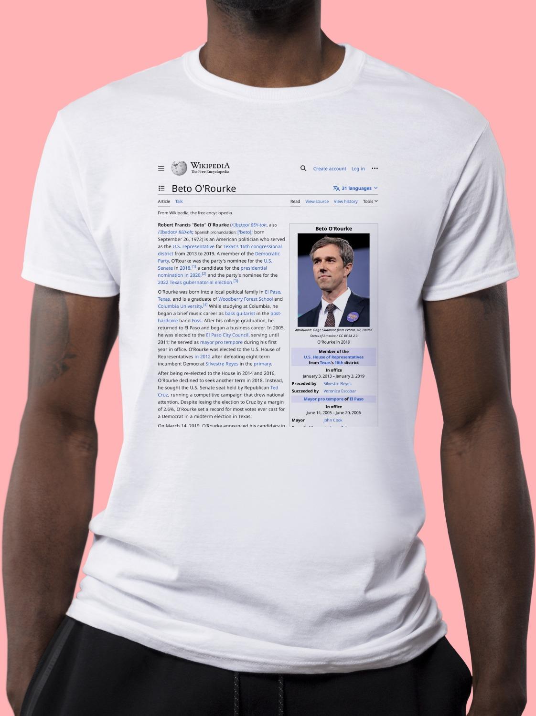 Beto_O'Rourke Wikipedia Shirt