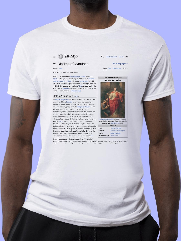 Diotima_of_Mantinea Wikipedia Shirt