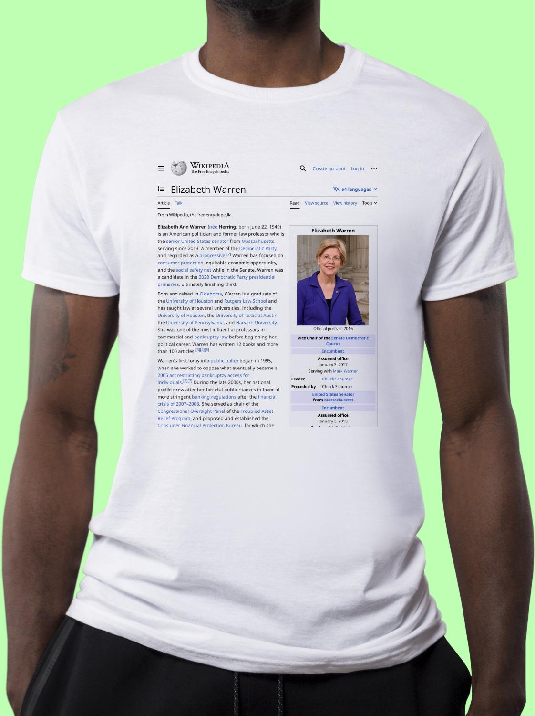 Elizabeth_Warren Wikipedia Shirt