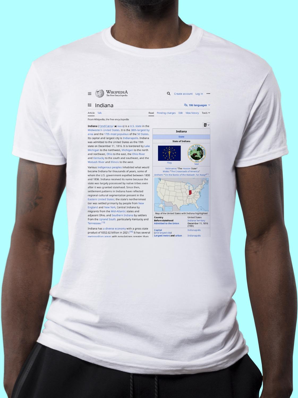 Indiana Wikipedia Shirt
