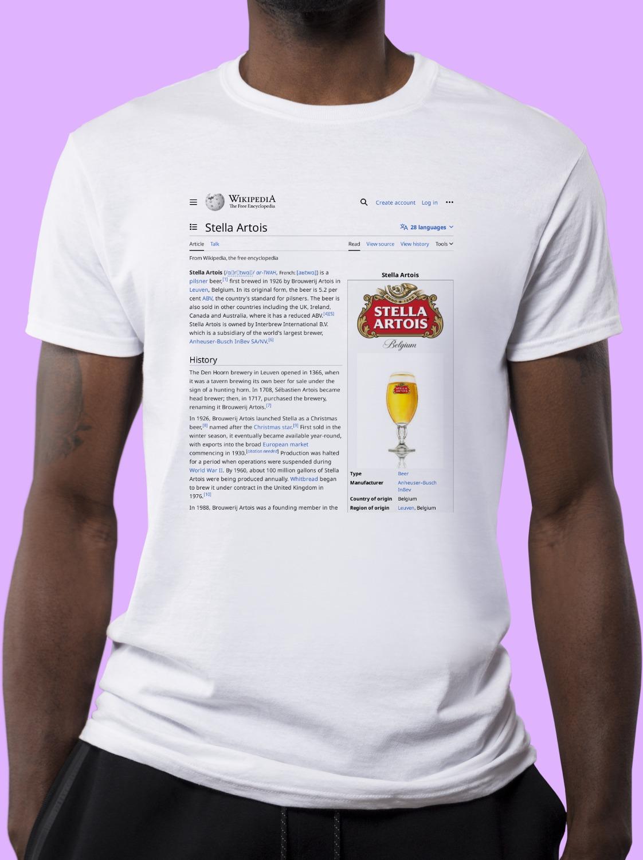 Stella_Artois Wikipedia Shirt