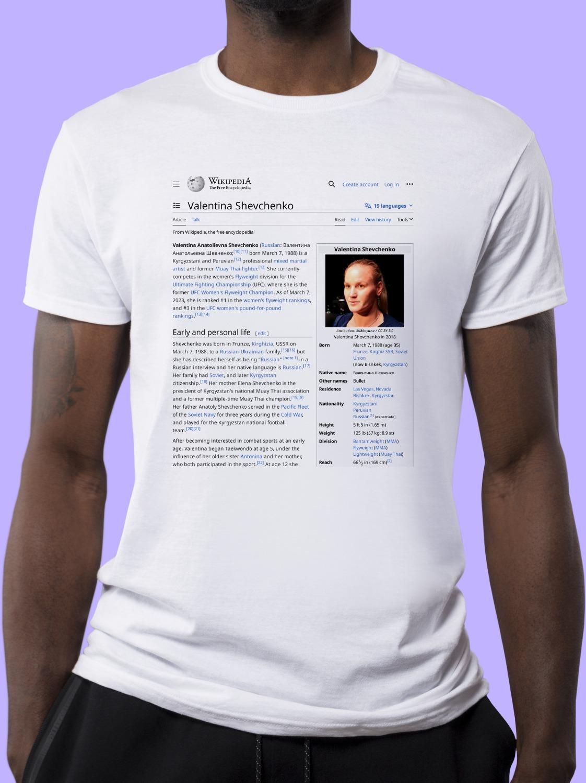 Valentina_Shevchenko_(fighter) Wikipedia Shirt