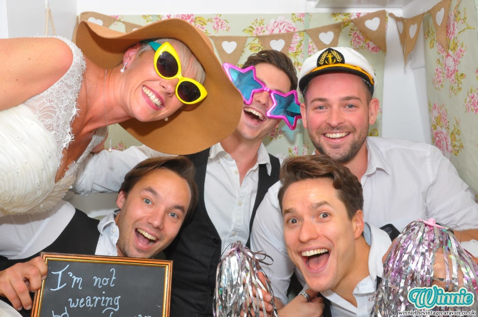 Example photo booth picture from a wedding