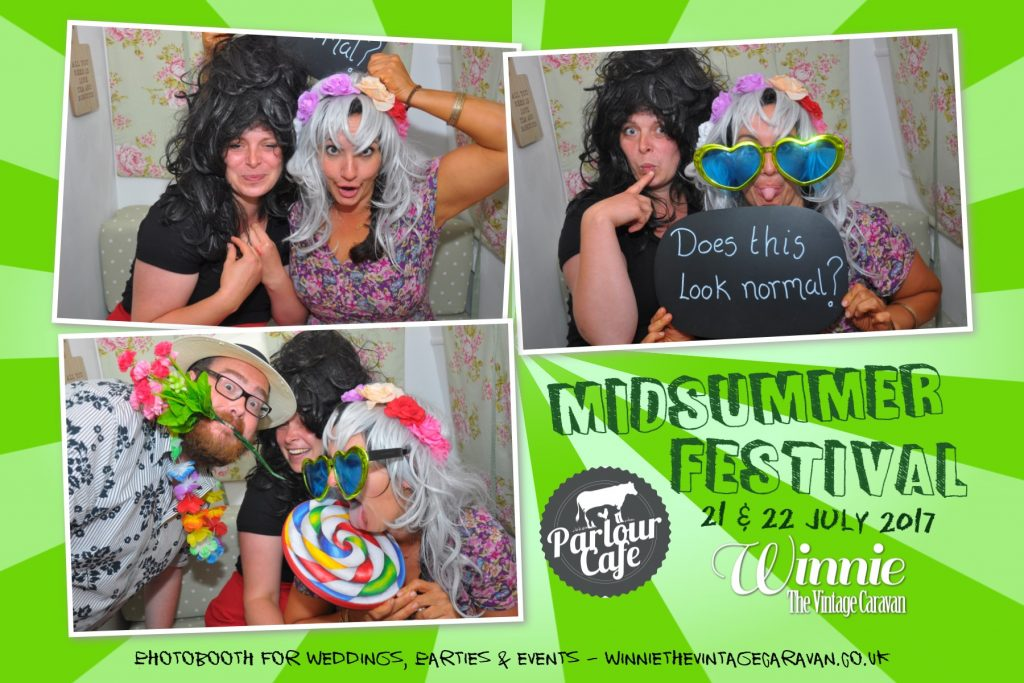 Picture from Parlour Cafe Midsummer Festival Photobooth
